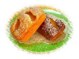 MINI PLUM-CAKE CU PIERSICI