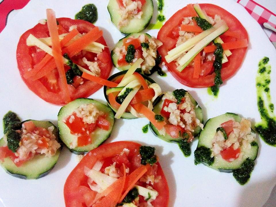 tartine de legume si peste