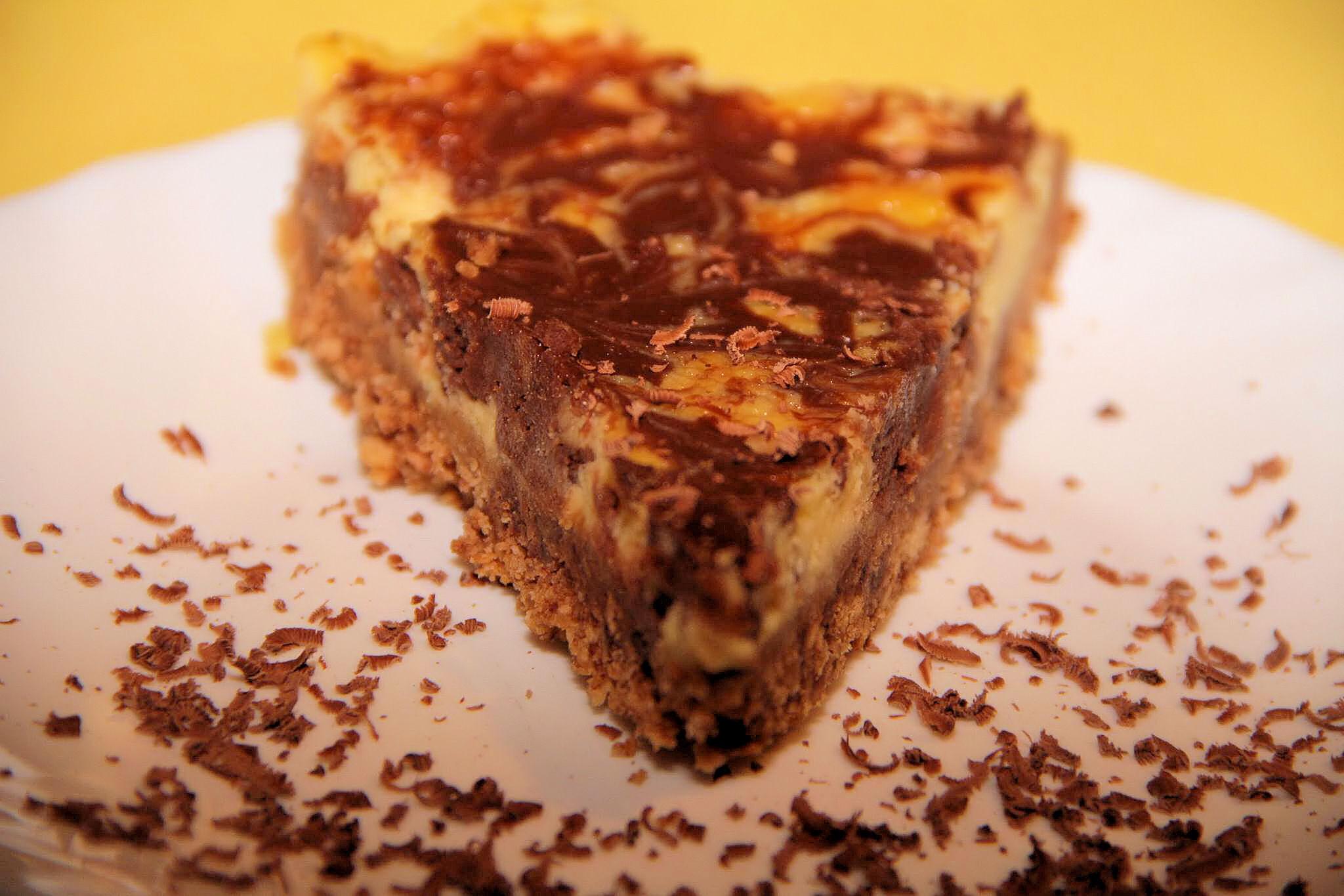 cheesecake marmorat cu cioco